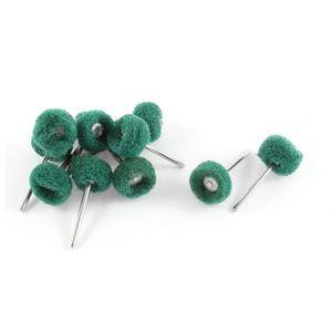 CAROTTEUSE Fibre vert satiné Brosse à polir Polissage Bijoux