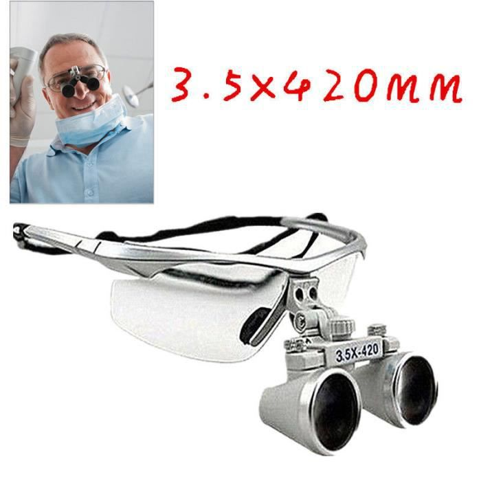 3.5 x420mm loupe binoculaire dentaire pour chirurgical dentiste ... d15bf91553b6