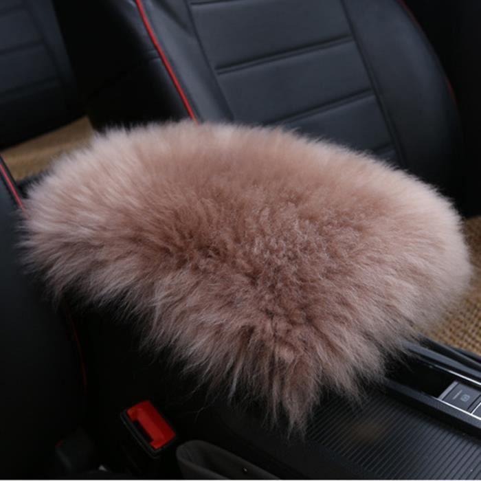 Accoudoir chaud de voiture Housse de coussin d'hiver Housse de