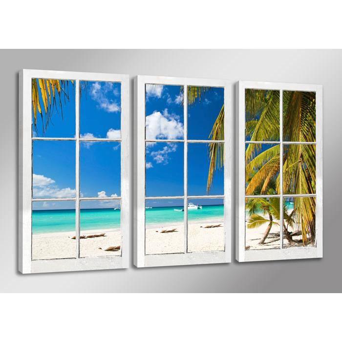 tableau moderne imprim 160x90 cm fenetre achat. Black Bedroom Furniture Sets. Home Design Ideas