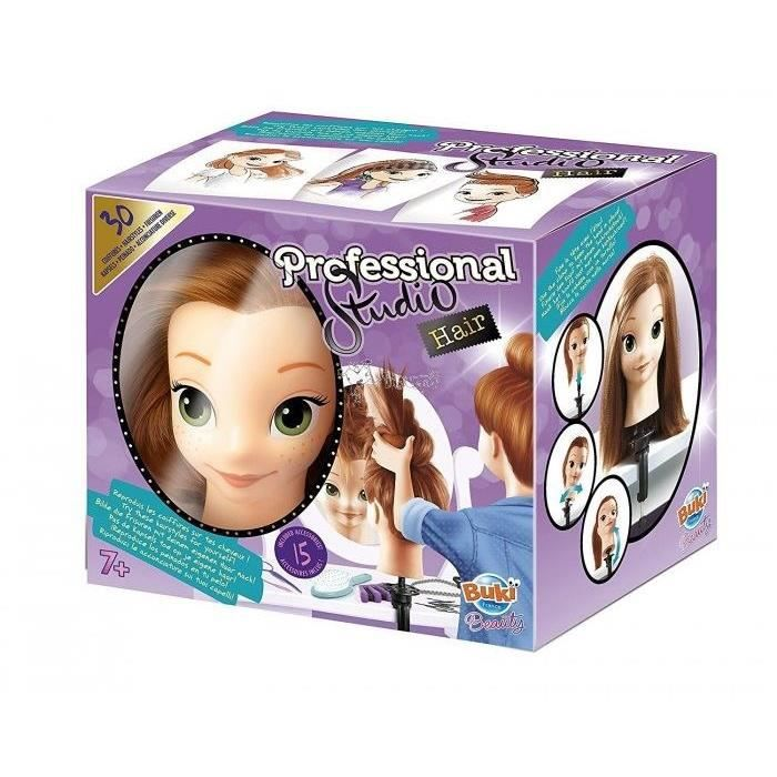 TÊTE À COIFFER BUKI Tête à coiffer Pro + 15 Accessoires