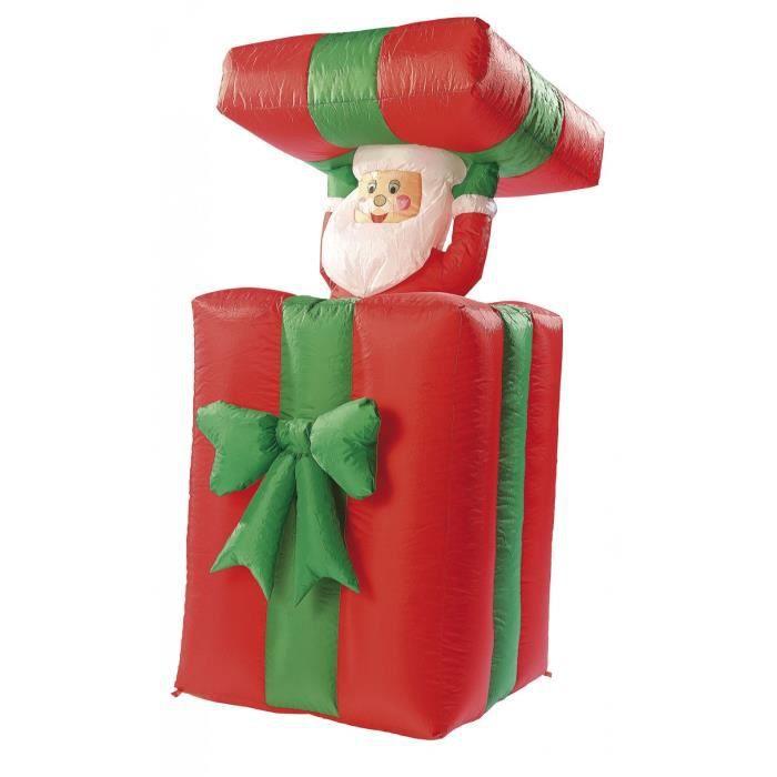Cadeau autogonflant avec Père Noël animé, 150 cm