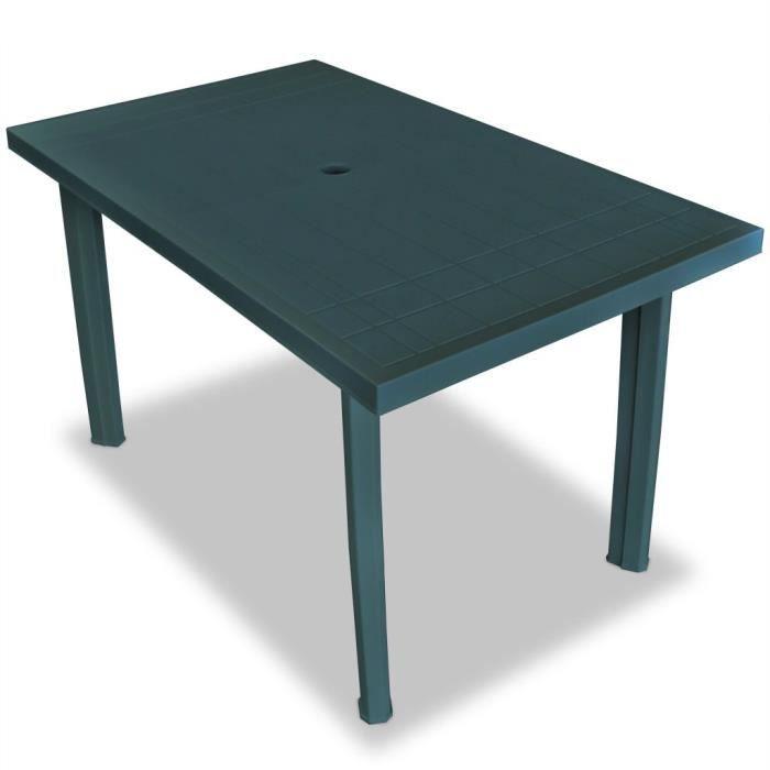 Table de jardin 126 x 76 x 72 cm Plastique Vert