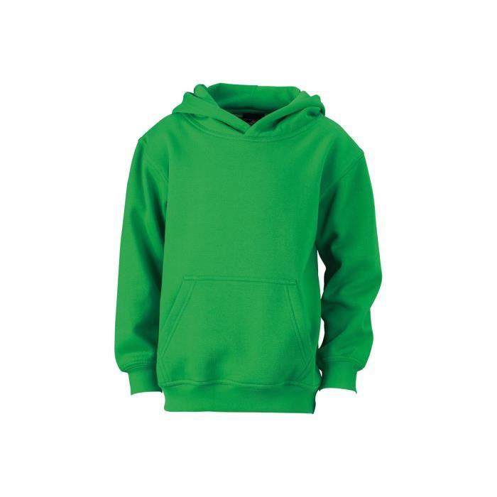 les plus récents profiter du meilleur prix haut de gamme pas cher Sweat-Shirt uni à capuche Enfant Vert fougere Vert fougere ...