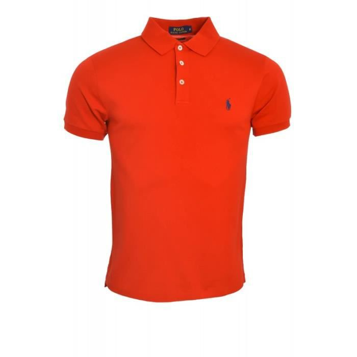 Homme Rouge Ralph Boutons 3 Pour Lauren Polo mnOv8wN0