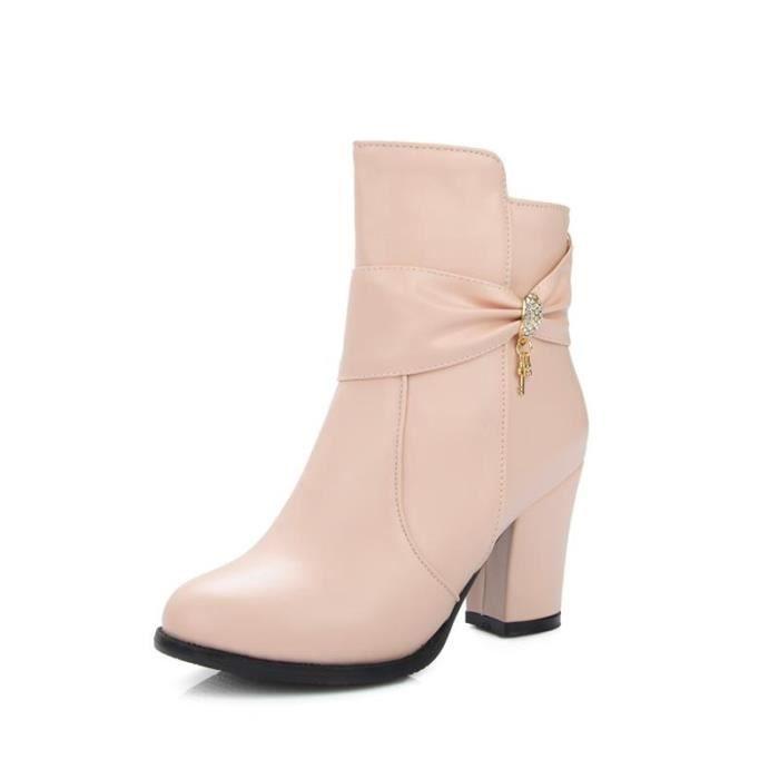 Court Boot élégante Aimable Femme Ankle Basses Confortable Naturel Chic Tempérament Sécurité Young Beau Mini Séduisante Métropole 65EOOxwAq