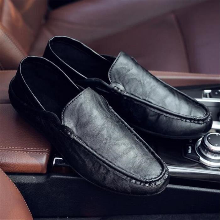 Luxe la De main Taille 2017 Antidérapant En Cuir De à homme Travail Moccasin chaussure Grande Qualité Marque ete Supérieure qw7tIxP