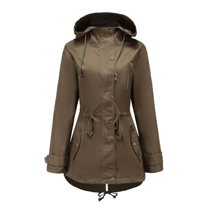 Manches Café Femme Manteau Longues Outwear Haut Veste Thicker Taille Pardessus Ycc80912553col Solide Plus qFBxxtp4