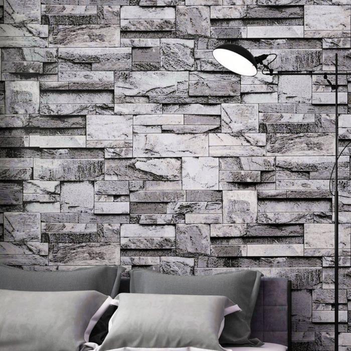 papier peint textur vinyle fond d 39 cran 3d mur paper ardoise pierre effet autocollant achat. Black Bedroom Furniture Sets. Home Design Ideas