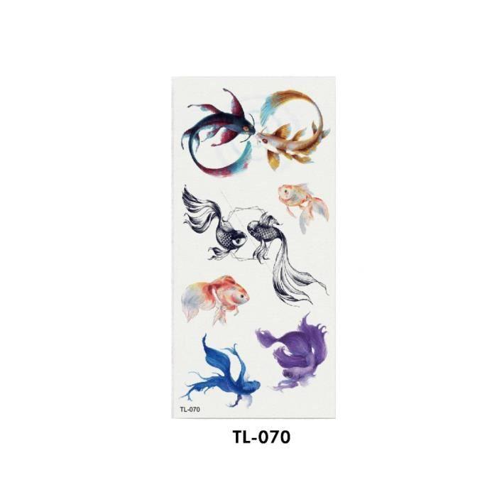 TATOO - BIJOU DE CORPS 1101101 Cool Dream Catcher Rose Fleur Goldfish Aut