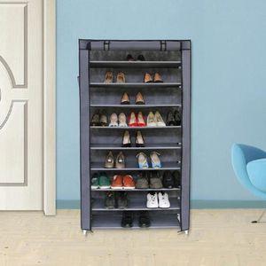 ... MEUBLE À CHAUSSURES Armoire / étagères à Chaussures 10 Couches Avec Ho  ...