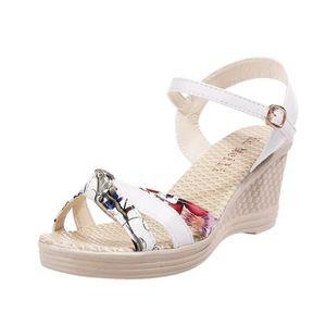 075b39ca15f74 ... SANDALE - NU-PIEDS Mesdames Femmes Chaussures Compensées été Sandales  ...