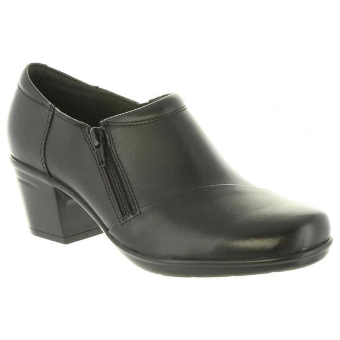 Black Clarks Femme 26137024 Emslie Escarpins Leather Pour 8EWqPw1vxX