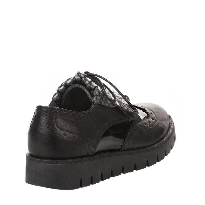 Chaussures à lacet fille - B&CO - Noir - 45355_VITELLO_FO_NERO-2 - Millim