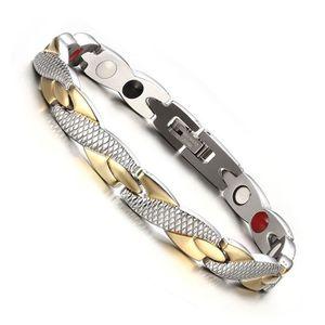 BRACELET - GOURMETTE Bracelet magnétique sain tordu puissance thérapie