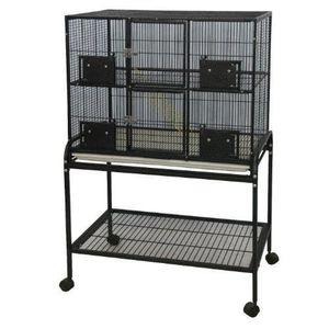 CAGE Little Friends Double cage en métal sur support po