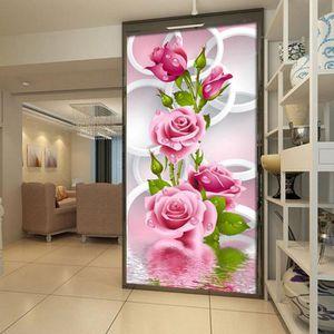 PEINTURE - VERNIS 5D DIY Rose Rose Fleur Broderie Impression Vertica