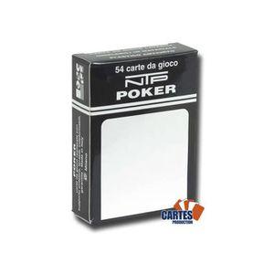 CARTES DE JEU NTP Bianco Poker - Jeu de 54 cartes 100% plastique