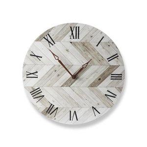 HORLOGE - PENDULE LEEGOAL Horloge murale en bois, horloge murale num