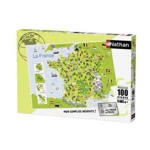 PUZZLE RAVENSBURGER Puzzle 100 p - Carte de France