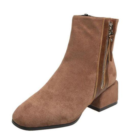 Solide Toe Ronde Cheville Fashion Shoes Bottes Femmes Court