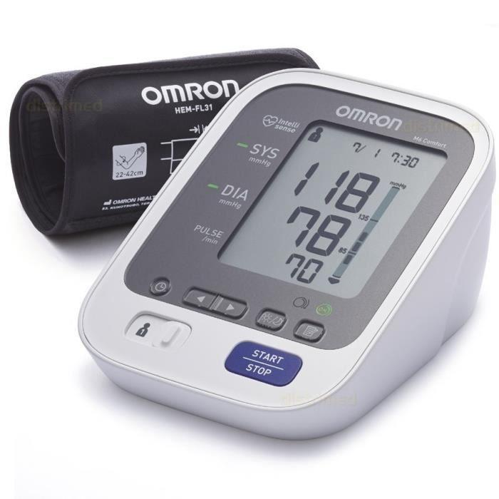 OMRON M6 Comfort Tensiomètre Bras Électronique, Technologie Brassard Intelli Wrap, Mesure fiable dans toutes les positions