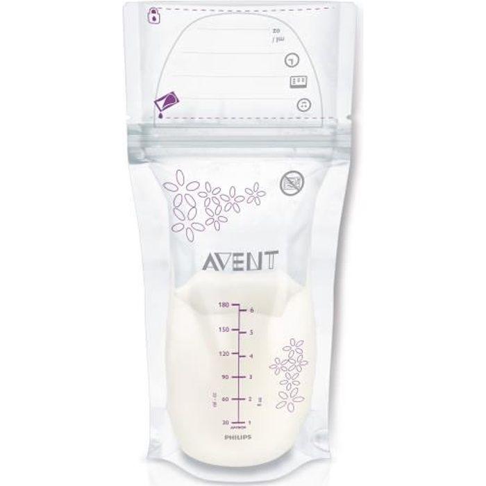 PHILIPS AVENT Sachets de conservation SCF603/25 Pour lait maternel - 180ml