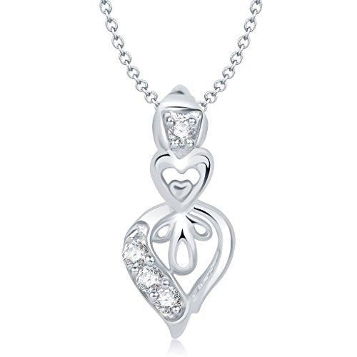 Femmes Vk Bijoux Saint Valentin Coeur Collection de laiton alliage dargent Cz américain Pendentif diamant pour Vkp I70HZ