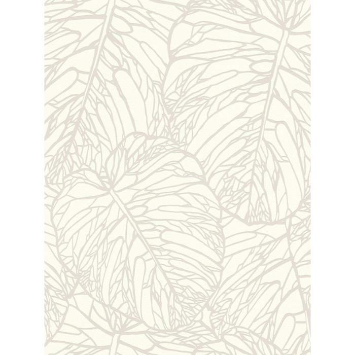 Feuille De Papier Peint Blanc Et Argent Rasch 609325 Achat Vente