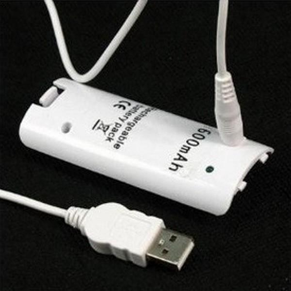 CASQUE AVEC MICROPHONE Batterie rechargeable 3600mAh pour Wii (blanc)
