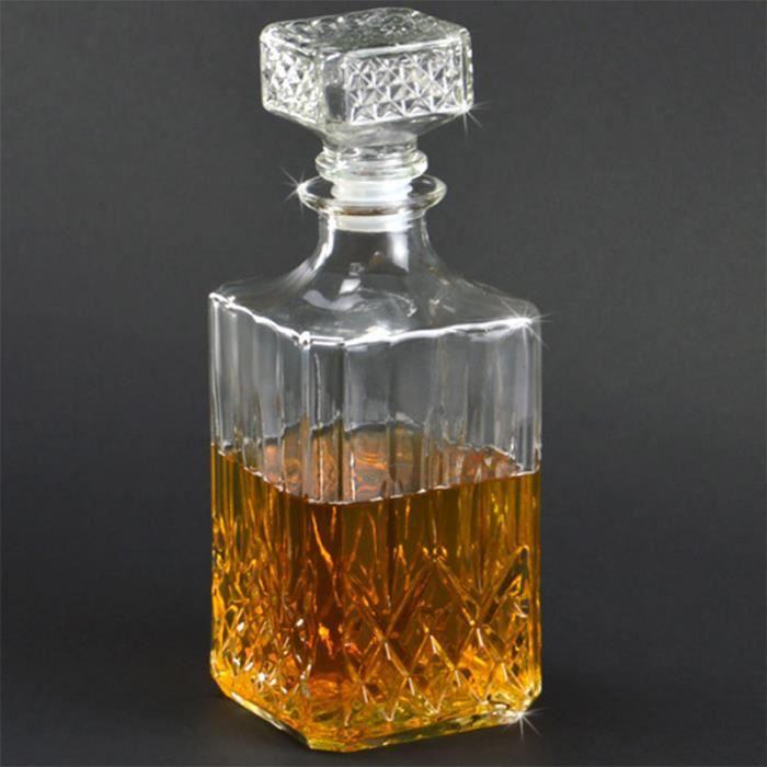 carafe whisky 900 ml en verre achat vente carafe. Black Bedroom Furniture Sets. Home Design Ideas
