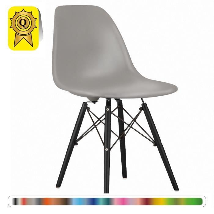 Bois Decopresto Dp Pieds Scandinave Dswb Perle Design Gris Lg 1 X Chaise Noir Z80nOPkXNw