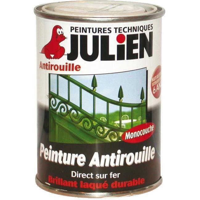 laque antirouille julien blanc brillant 250ml achat vente peinture vernis laque. Black Bedroom Furniture Sets. Home Design Ideas