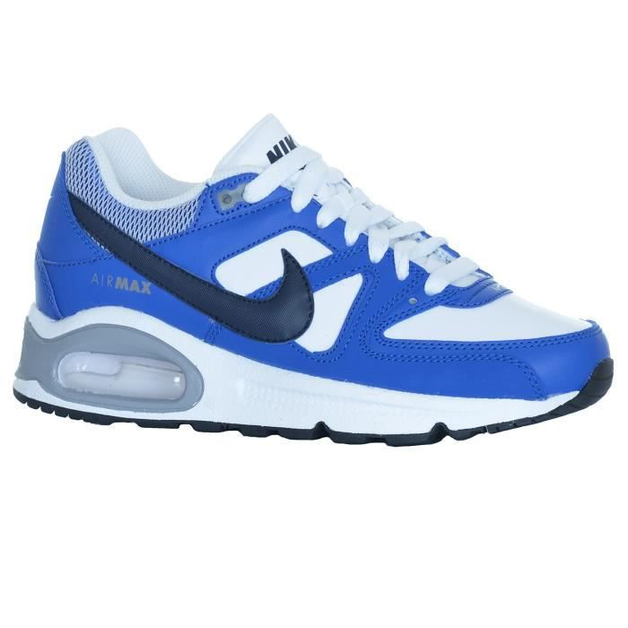 Chaussures Basket Air Max Command Jr White/Blue - Nike