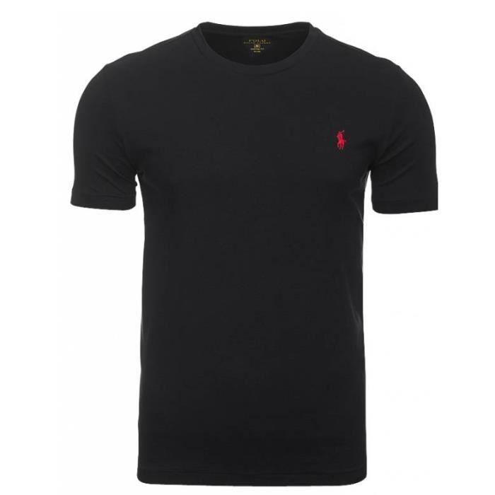T-shirt Ralph Lauren noir pony rouge Noir Noir - Achat   Vente t ... a64f905c07aa
