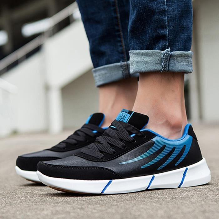 Skateshoes noir bleu Skater rondlacer Bout taille41 Homme zwqBUf
