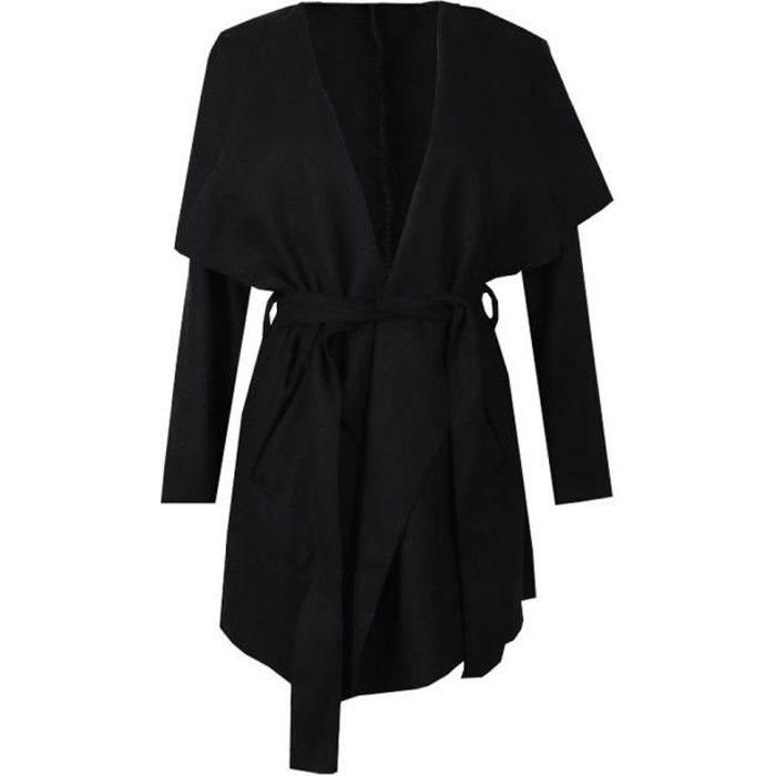 manteau noir cintree femme achat vente manteau noir. Black Bedroom Furniture Sets. Home Design Ideas