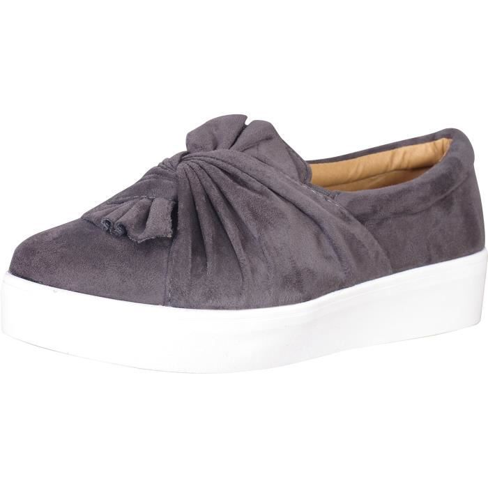 Catherine Malandrino Knotted Slip-on Fashion Sneakers T6BM9 Taille-38 1-2