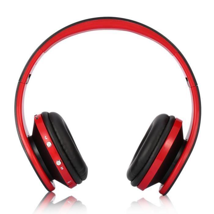 Akone Nx-8252 Bluetooth 4.0 Stéréo Pliable Casque Mains Sans Fil Avec Microphone Basses Puissantes