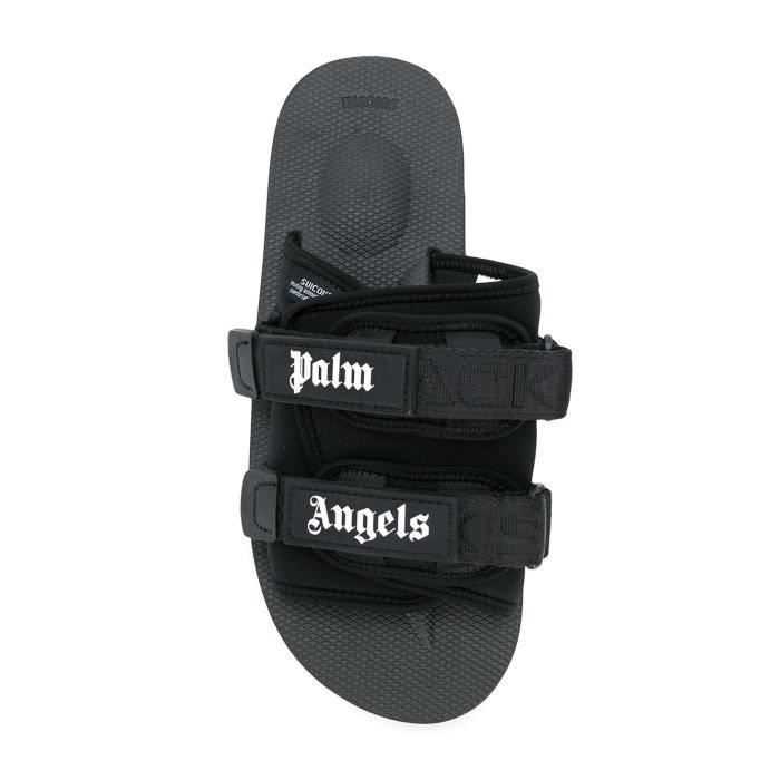 PALM ANGELS HOMME PMIA024S183420581010 NOIR POLYESTER SANDALES