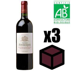 VIN ROUGE X3 Château Fonroque 2014 Rouge 75 cl AOC Saint-Émi
