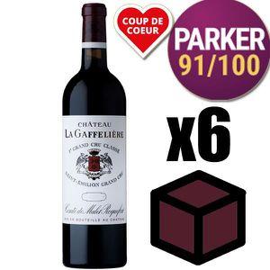 VIN ROUGE X6 Château La Gaffelière 2014 Rouge 75 cl AOC Sain