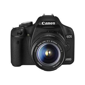 PACK APPAREIL RÉFLEX Canon EOS 500D + 18-55 IS