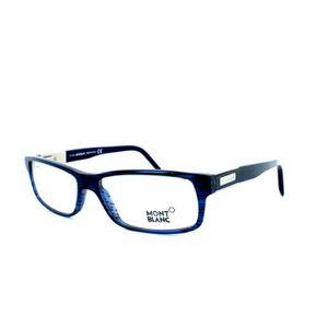838d105783a758 Lunettes de vue pour homme MONT BLANC MB 334 09... Blanc, Bleu ...