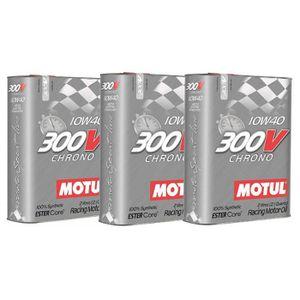 HUILE MOTEUR Huile moteur - MOTUL 104243 300V CHRONO 10W40 - 6