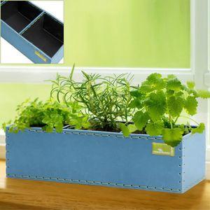 JARDINIÈRE - POT FLEUR  Pot de fleurs 6 L - Bac plante Bleu