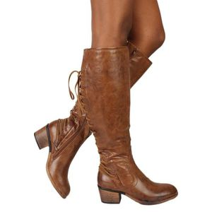 BOTTE oppapps5842 Mode féminine en cuir à lacets Talons