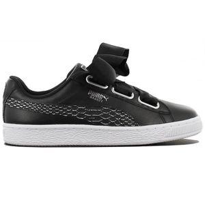 detailed look 80308 b6262 Puma Basket Heart Oceanaire 366443-01 Femmes Chaussures Baskets Sneaker Noir
