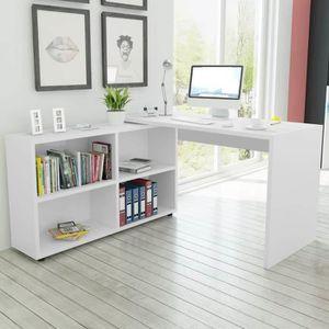 BUREAU  Bureau d'angle 4 étagères Table de bureau Bureau C