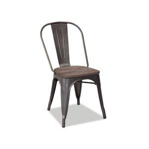 CHAISE Chaise En Mtal Caserte Gris